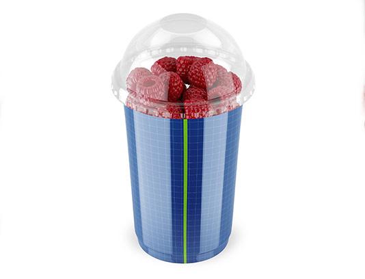 موکاپ ظرف پلاستیکی تمشک