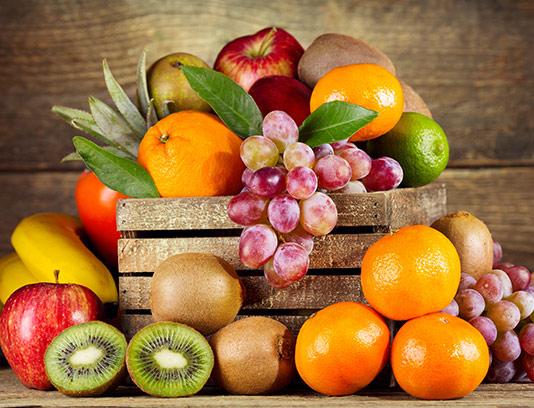 عکس جعبه میوه های تازه
