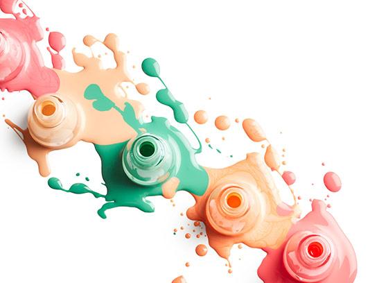 عکس لاک رنگی خلاقانه