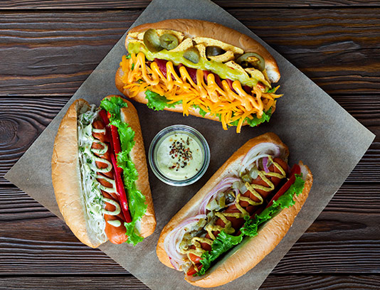 انواع ساندویچ هات داگ با سس