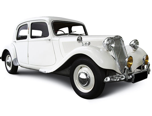 عکس اتومبیل قدیمی سفید