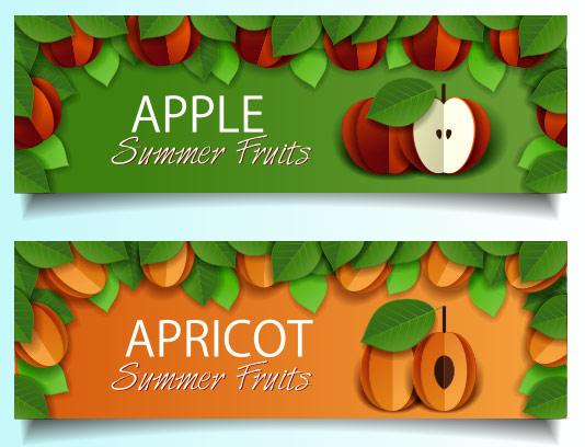 وکتور بنر میوه تابستانه