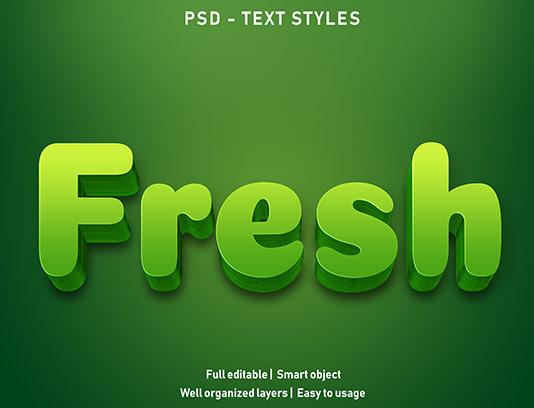 موکاپ متن سه بعدی سبز خلاقانه