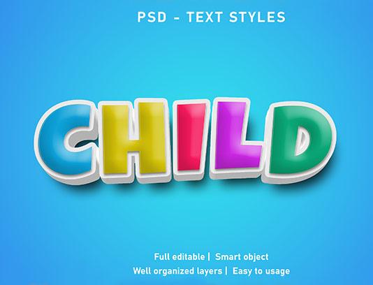 موکاپ متن سه بعدی خلاقانه رنگی