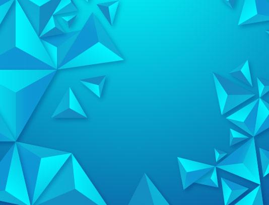 پس زمینه مثلث سه بعدی آبی