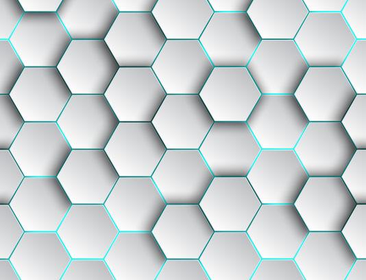 بکگراند زمینه انتزاعی شش ضلعی
