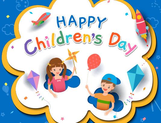 وکتور پس زمینه روز کودک