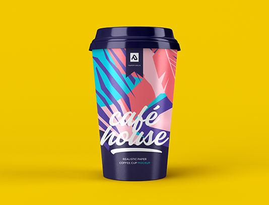 موکاپ لیوان قهوه خلاقانه