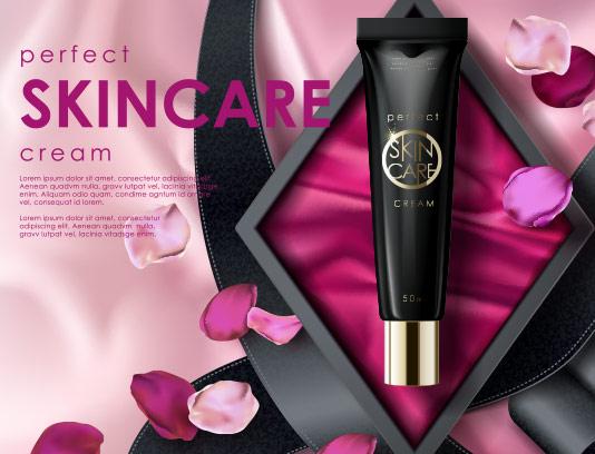 وکتور محصولات آرایشی تبلیغاتی