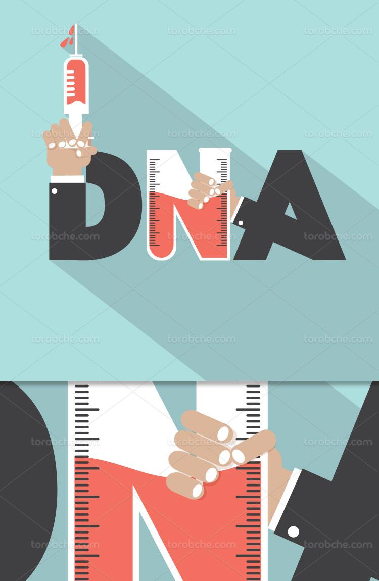 وکتور لوگو DNA خلاقانه