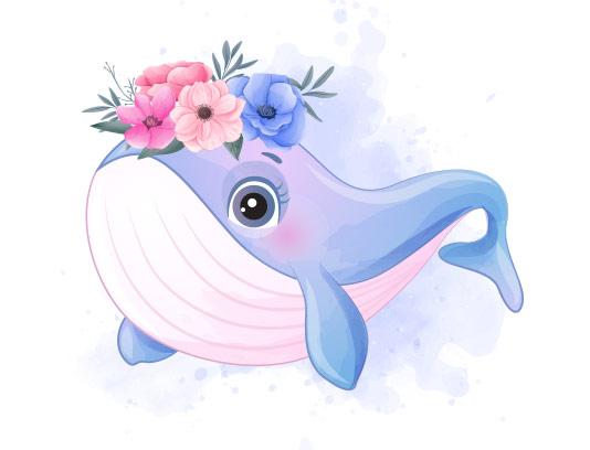وکتور کاراکتر دلفین بامزه