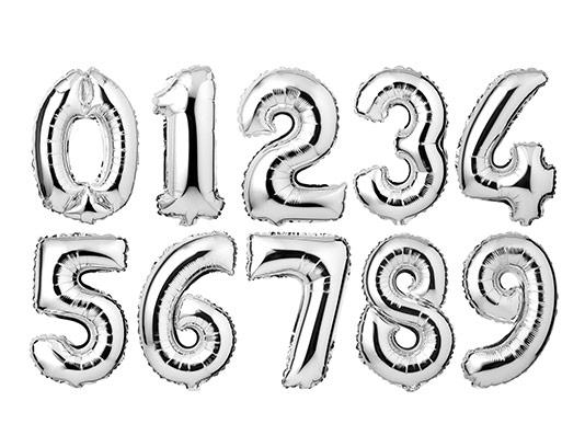 عکس اعداد انگلیسی بادکنکی