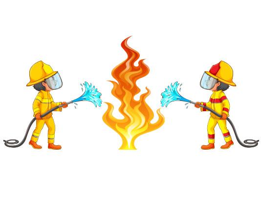 وکتور آتش نشانی خلاقانه
