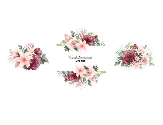 وکتور کادر گل رز با کیفیت
