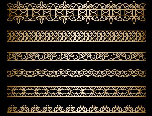 وکتور حاشیه و کادر طلایی