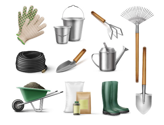 وکتور ابزار باغبانی با کیفیت