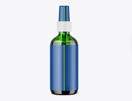 موکاپ قوطی شیشه ای سبز