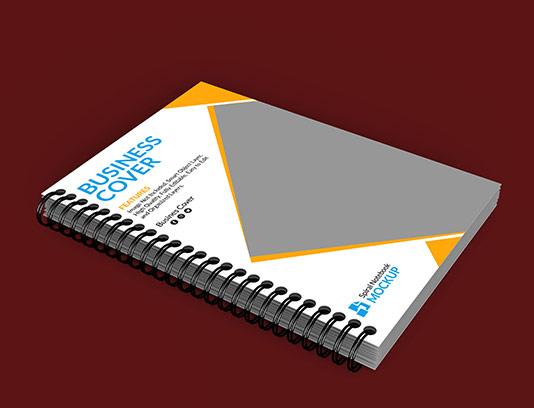 موکاپ جلد دفتر با کیفیت