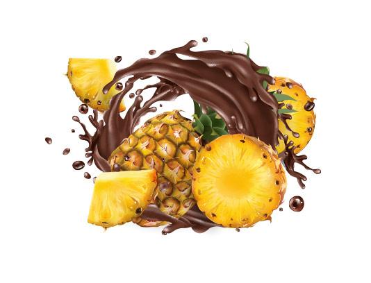 وکتور اسپلش آناناس و کاکائو