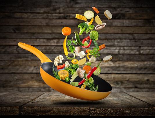 عکس سبزیجات برش خورده