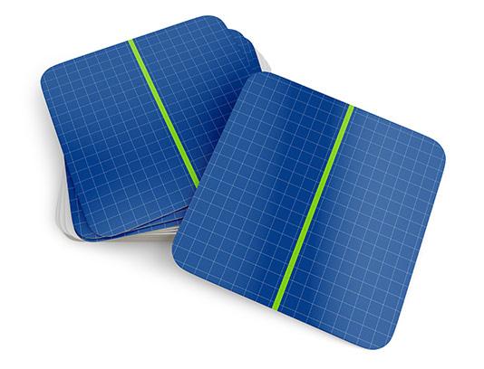 موکاپ کارت ویزیت دوطرفه مربع