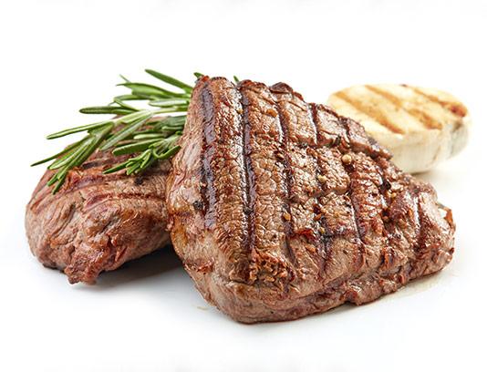 عکس استیک گوشت با سبزی