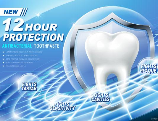 وکتور تبلیغات خمیر دندان