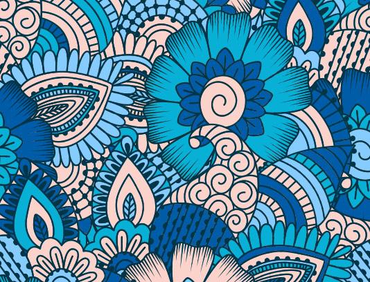 پس زمینه سنتی آبی خلاقانه