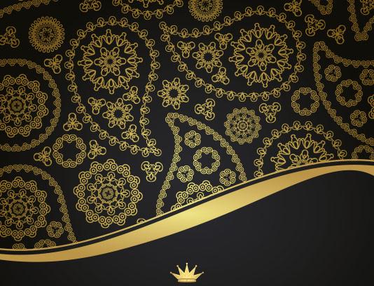 پس زمینه سنتی ترمه طلایی