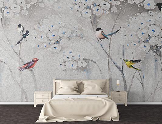 کاغذ دیواری سه بعدی شکوفه