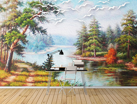 کاغذ دیواری طبیعت زیبا