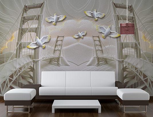 کاغذ دیواری سه بعدی پل