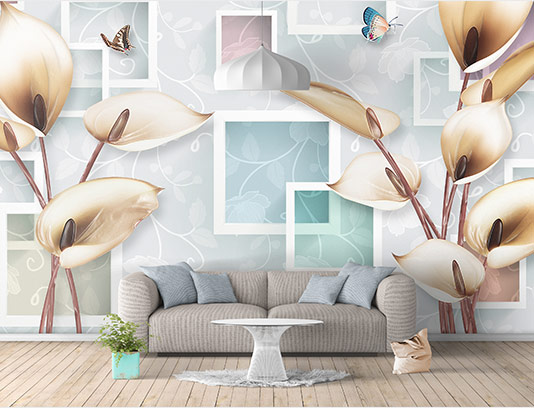 کاغذ دیواری گل شیپوری