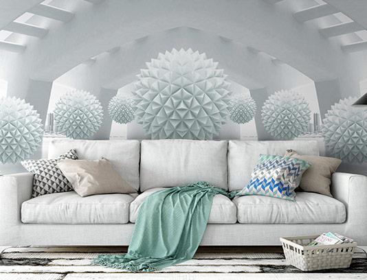 کاغذ دیواری خلاقانه سه بعدی