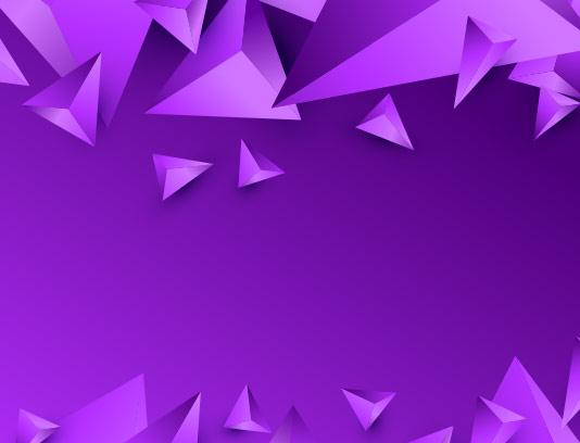 وکتور زمینه مثلث سه بعدی بنفش