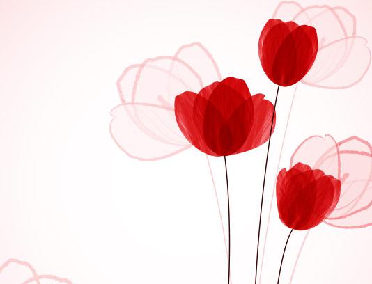 وکتور گل های لاله انتزاعی