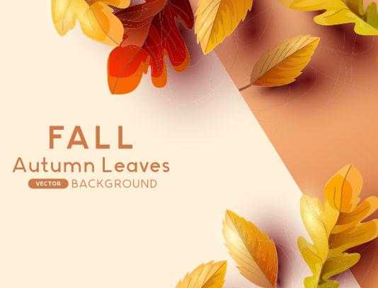 وکتور پس زمینه پاییزی با برگ