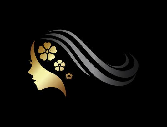 وکتور لوگو سالن زیبایی طلایی مشکی