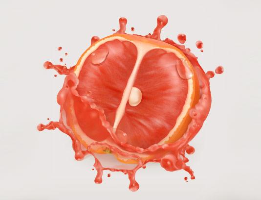 وکتور اسپلش پرتقال خونی