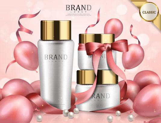 وکتور تبلیغات محصولات آرایشی