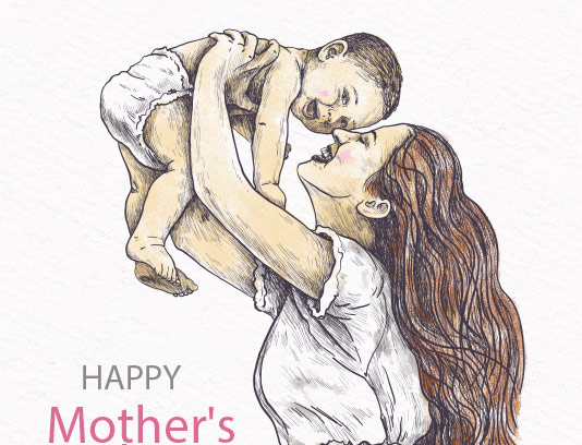 وکتور تبریک روز مادر