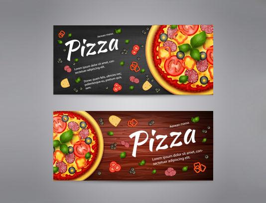 وکتور بنر پیتزا رنگی