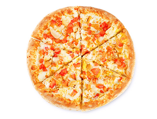 عکس پیتزا مرغ و گوجه فرنگی