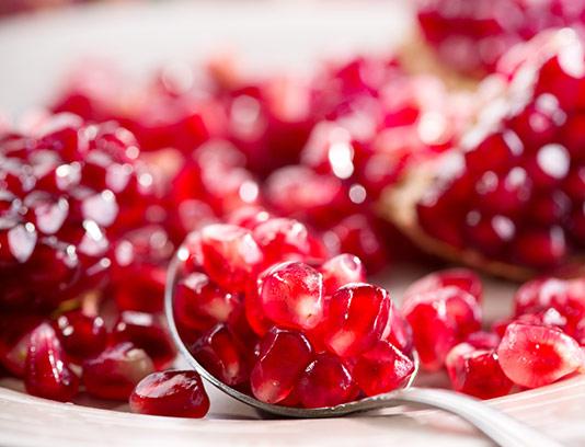 عکس دانه های انار قرمز