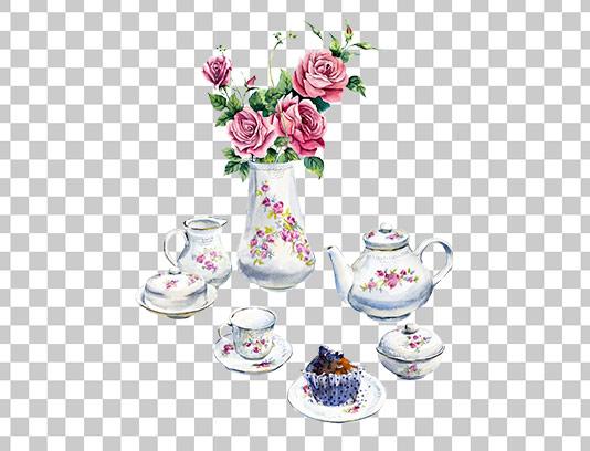 عکس دوربری شده سرویس چای خوری