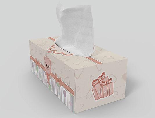 جعبه دستمال کاغذی طرح کودک