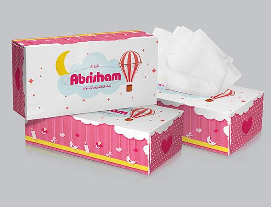 جعبه دستمال کاغذی کودکانه