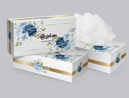 جعبه دستمال کاغذی گل رز