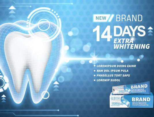 وکتور تبلیغاتی خمیر دندان خلاقانه
