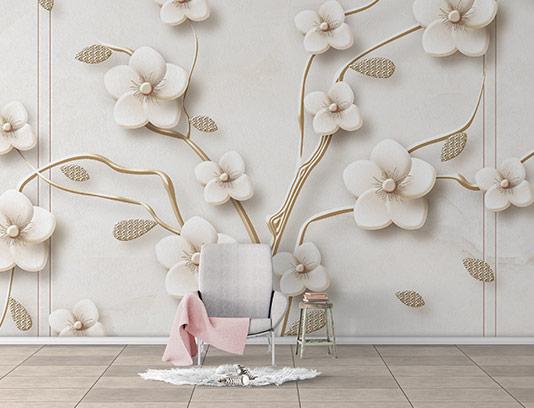 کاغذ دیواری شکوفه بهاری